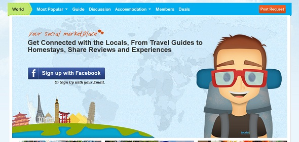TouristLink-startup featured on startuplift for startup feedback and website feedback