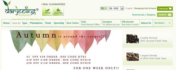 Darjeeling Tea Express - startup featured on StartUpLift for startup feedback and website feedback