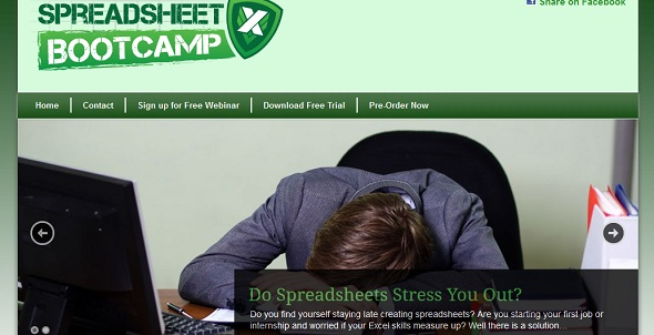 SpreadsheetBootCamp - startup featured on StartUpLift for startup feedback and website feedback