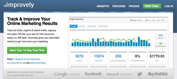 improvely - Featured on StartUpLift startup feedback - website feedback