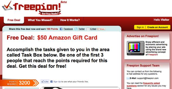 freepion - startup featured on startuplift for website feedback & startup feedback