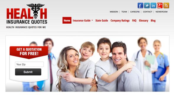 healthinsurancequotes - startup featured on startuplift for website feedback & startup feedback.jpg