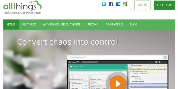 allthings - startup featured on StartUpLift for startup feedback and website feedback