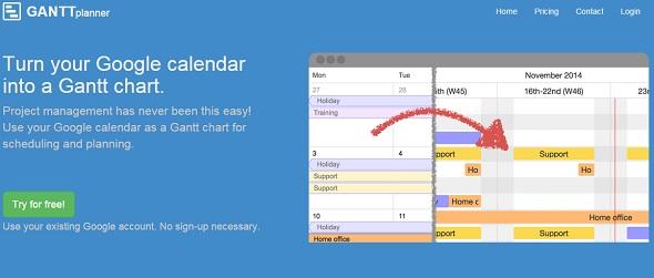 Ganttplanner Turn Your Google Calendar Into A Gantt Chart