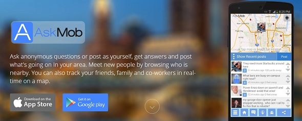 AskMob - startup featured on StartUpLift for startup feedback and website feedback