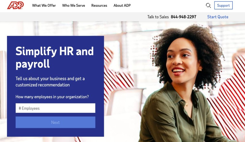 ADP - Best Online Payroll Provider for Small Business