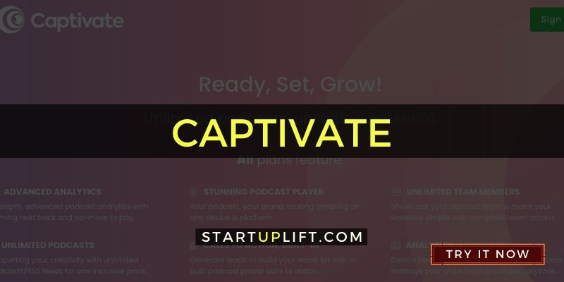 Captivate - Best Podcast Website
