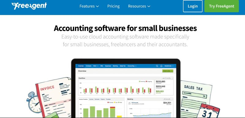 FreeAgent  - One Of The Best Accounting Software for Startups (& Small Businesses)