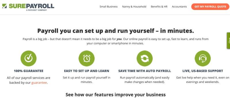 SurePayroll  - Best Online Payroll Provider for Small Business
