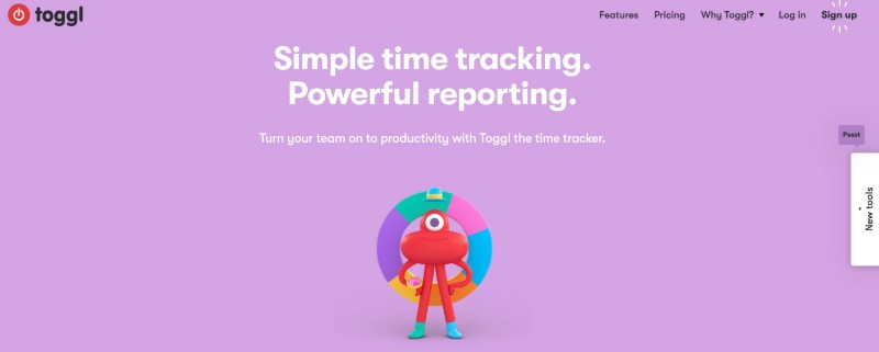 Toggl  - One Of The Best Remote Employee Monitoring Software