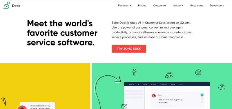 ZOHO Desk - Best software for issue tracking