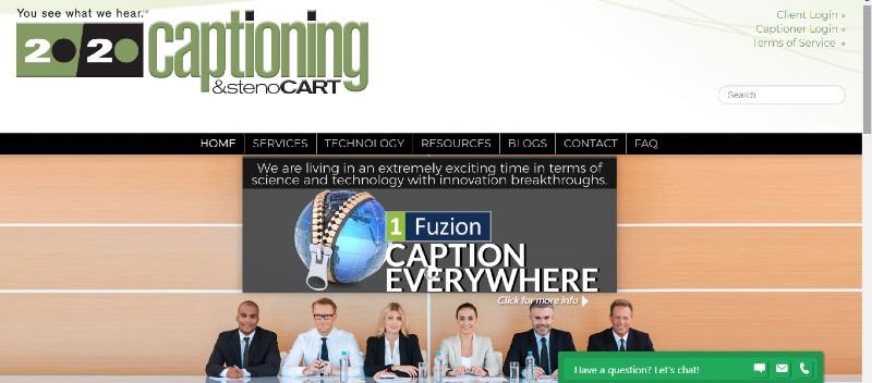 20/20 Captioning - Best Closed Captioning Software