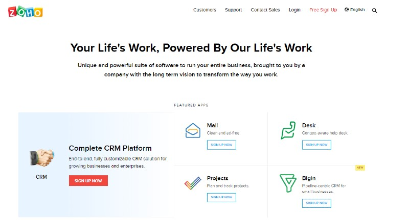 Zoho - Best CRM Software
