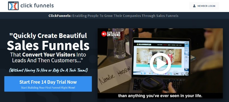ClickFunnels - Best Sales Funnel Software