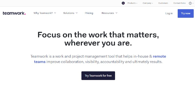 Teamwork Projects - Best Project Management Software