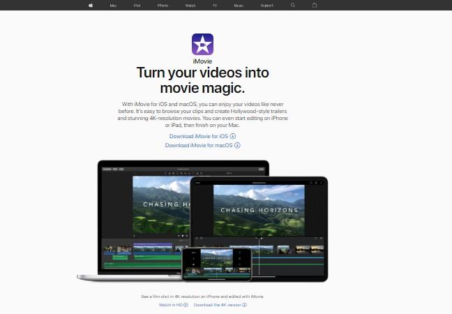 Apple iMovie - Best Video Editing Software
