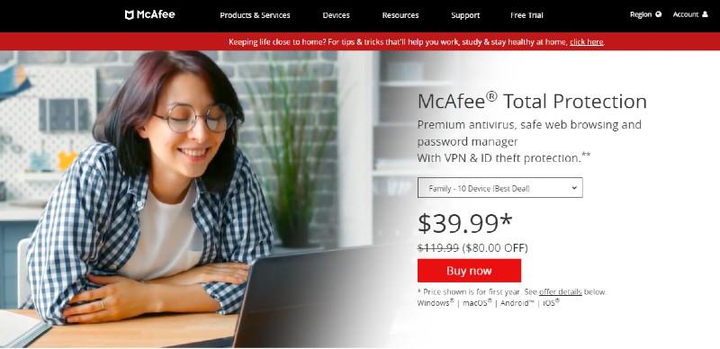 McAfee - Best Antivirus Software