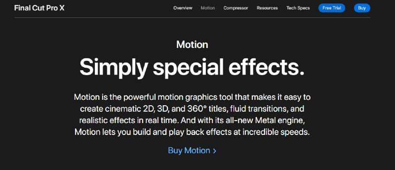 Apple Motion - Best Motion Graphics Software