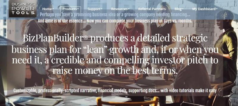 BizPlanBuilder  - Best Business Plan Software