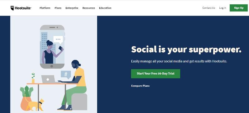 Hoootsuite - Best Social Media Marketing Tools