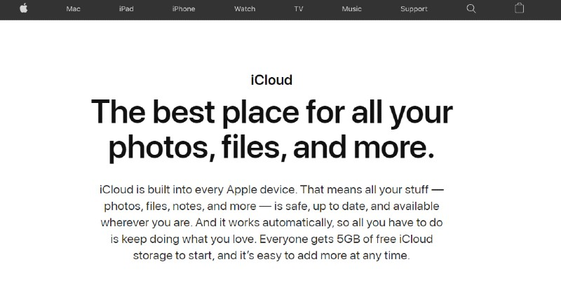 iCloud - Best Cloud Storage and Online Back-up Systems