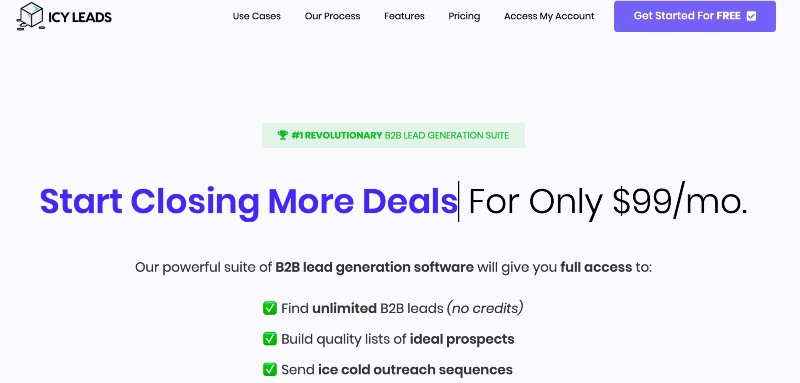 icyleads - b2b lead generation software
