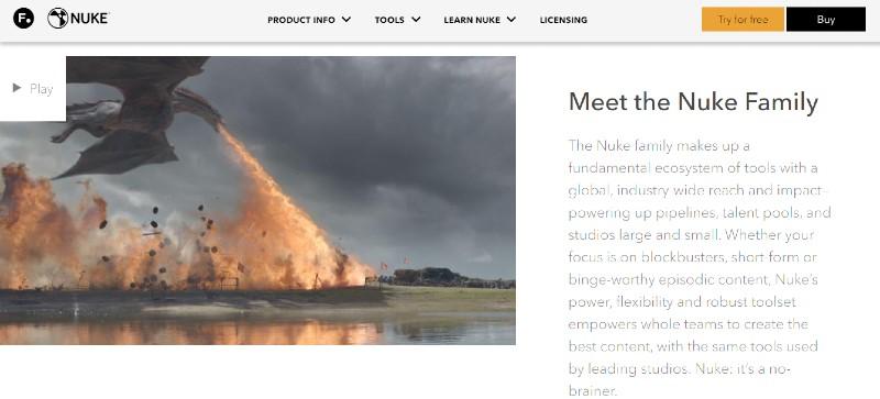 Nuke - Best Motion Graphics Software