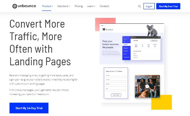 Unbounce - Best Landing Page Builders