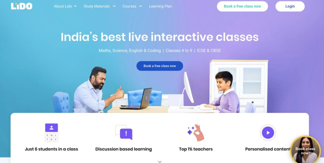 Lido - India's Best Live Interactive Classes (Featured on StartUpLift)