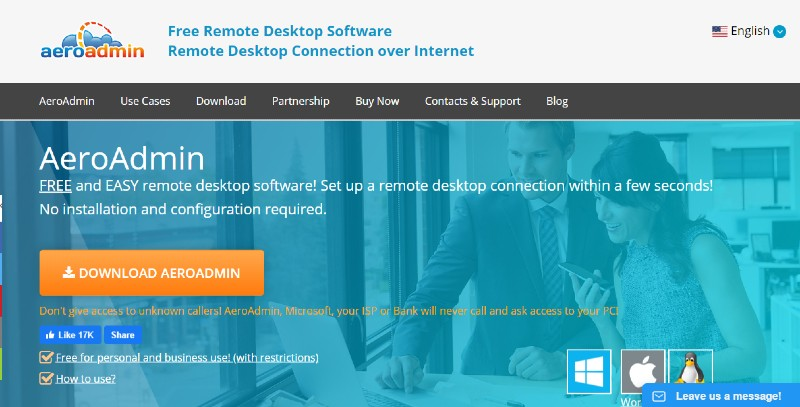 AeroAdmin - Best Remote Desktop Software And Access Tools