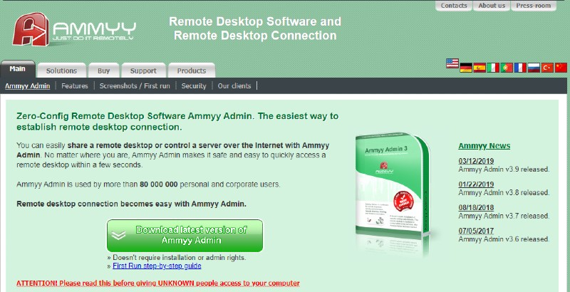 Ammyy - Best Remote Desktop Software And Access Tools