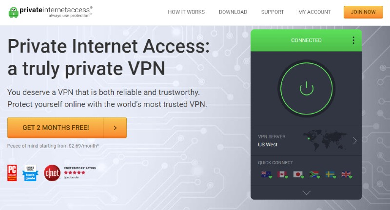 Private Internet Access - Best VPN Service Providers