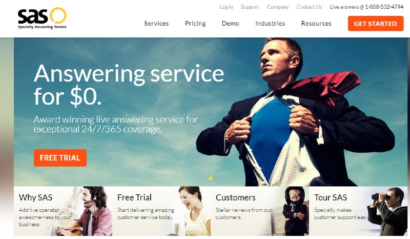Specialty Answering Service SAS - Best Business Answering Services