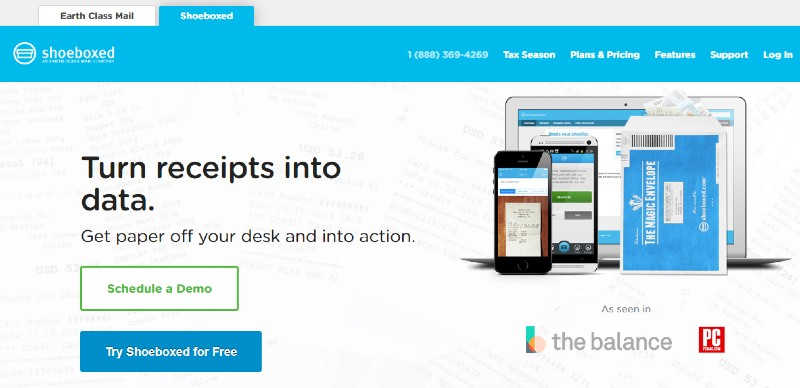 Shoeboxed - Best Expense Tracking Services