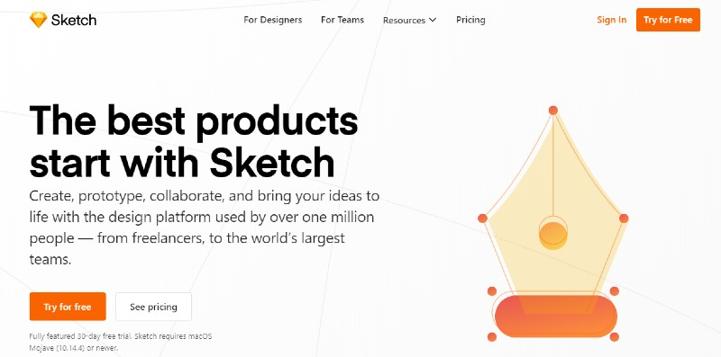 Sketch - Best Wireframing and Prototyping and Mockup Tools