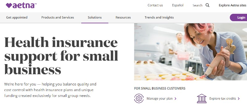 Aetna - Best Small Business Health Insurance