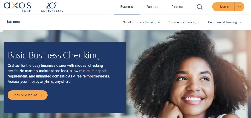 Axos Bank - Best Business Checking Accounts for Entrepreneurs