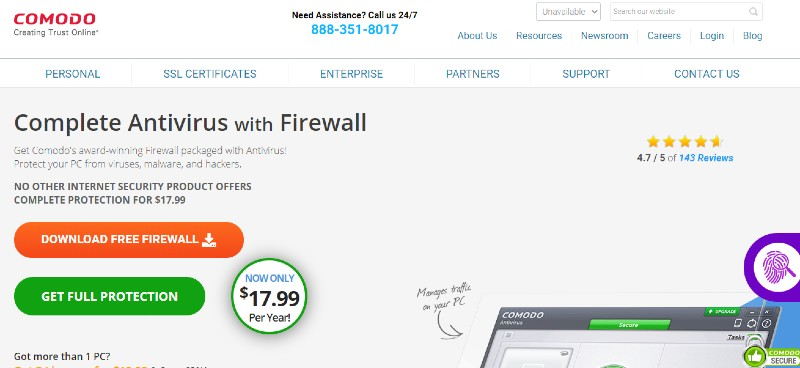 Comodo Firewall - Best Small Business Firewall