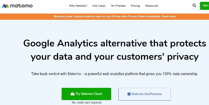 Piwik now called Matomo - How Many SaaS Tools You Need to Start Your Business