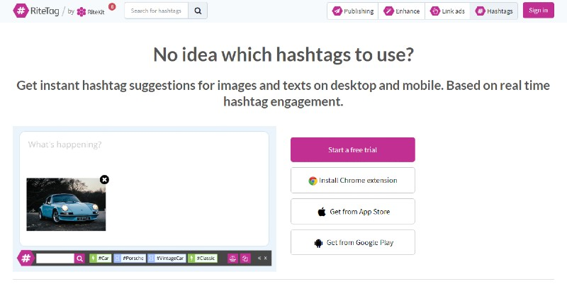 RiteTag - Finding the Best Hashtags for Your Business
