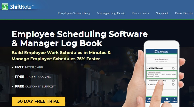 Shiftnote - Best Employee Scheduling Software