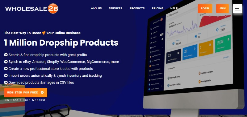 Wholesale 2B - Best Dropshipping Companies for your eCommerce Business