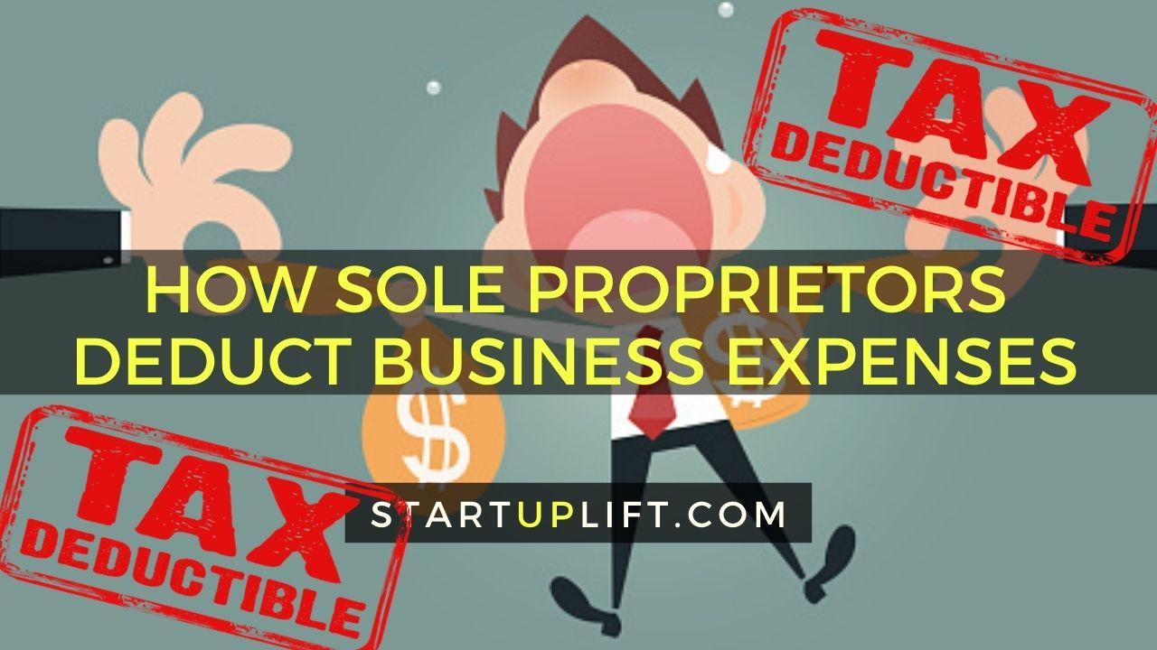 How Sole Proprietors Deduct Business Expenses