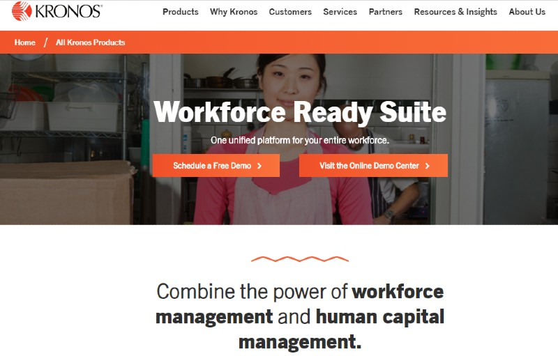 Kronos Workforce Ready - Best Human Resources Software for Startups