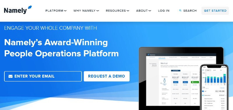 Namely - Best Human Resources Software for Startups