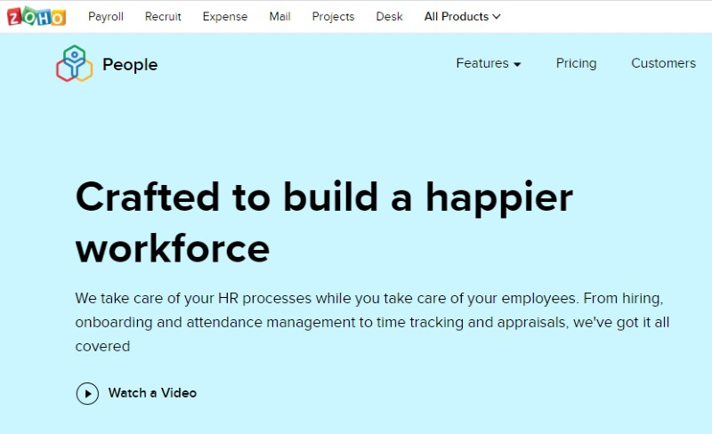 Zoho People - Best Performance Management Software