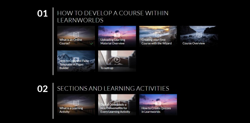 Free layout templates - LearnWorlds Review: Create and Sell Online Courses