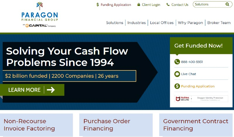 Paragon Financial - Best Invoice Factoring Companies