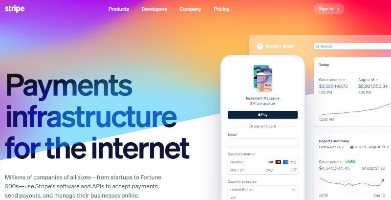 Stripe - Best PayPal Alternatives