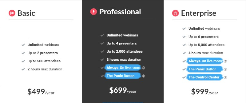 Webinar Jam Plans and Pricing - Webinar Jam Review